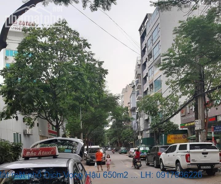 Bán đất mặt phố Dịch Vọng Hậu 650m2 MT:25m giá 165tỷ