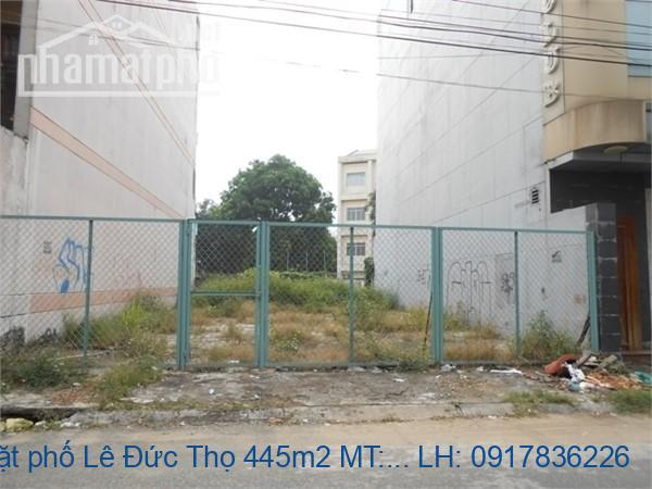 Bán đất mặt phố Lê Đức Thọ 445m2 MT:15m giá 245tỷ