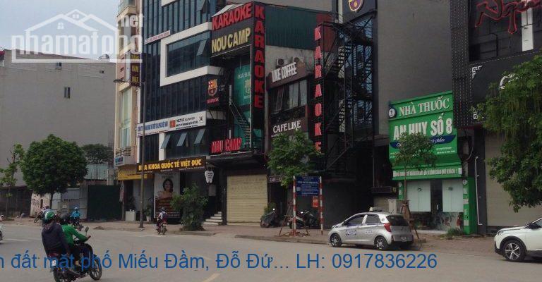 Bán đất mặt phố Miếu Đầm, Đỗ Đức Dục 230m2 MT:9m giá 56tỷ