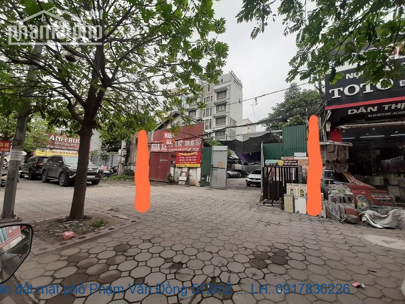 Bán đất mặt phố Phạm Văn Đồng 512m2 MT:11m giá 92tỷ