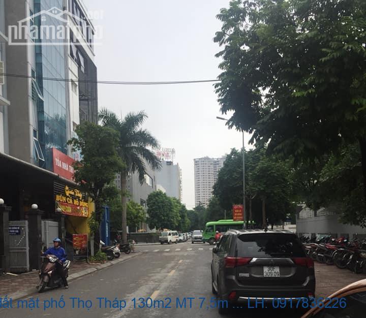 Bán đất mặt phố Thọ Tháp 130m2 MT 7,5m giá 48tỷ