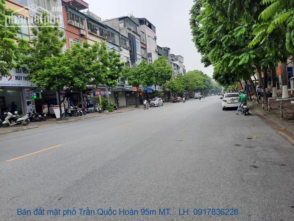 Bán đất mặt phố Trần Quốc Hoàn 95m MT:7m góc giá 32tỷ