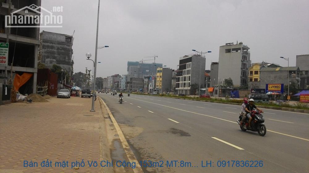 Bán đất mặt phố Võ Chí Công 153m2 MT:8m giá 46tỷ
