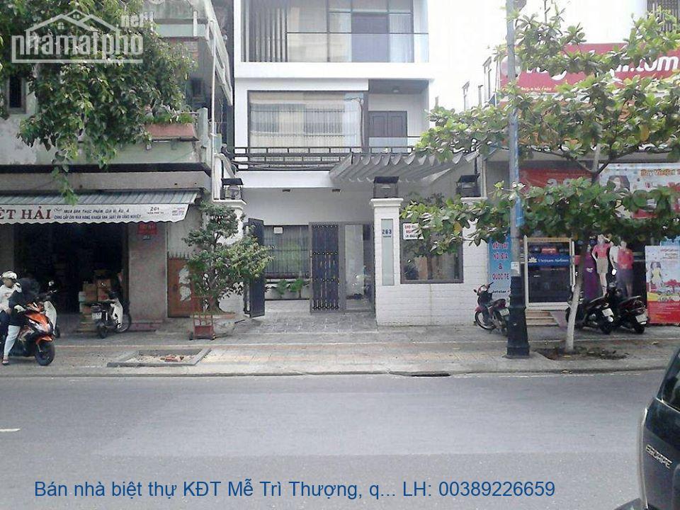 Bán nhà biệt thự KĐT Mễ Trì Thượng, quận Nam Từ Liêm 115m2 giá 13