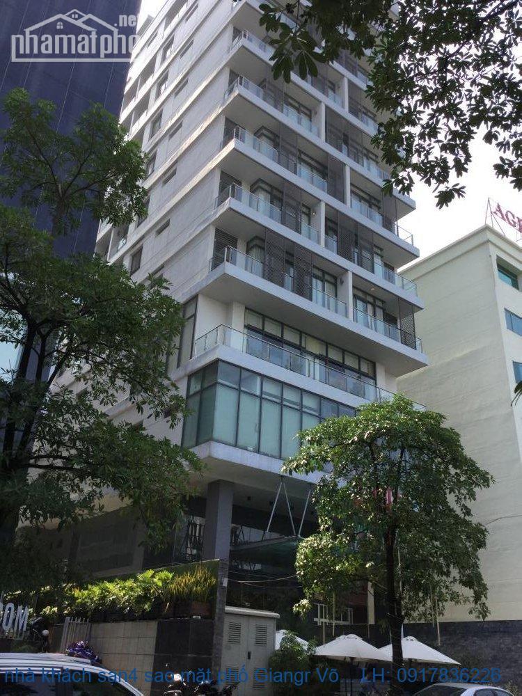 Bán nhà khách sạn 4 sao mặt phố Giảng Võ 1250m2x21T MT:50m giá 990tỷ