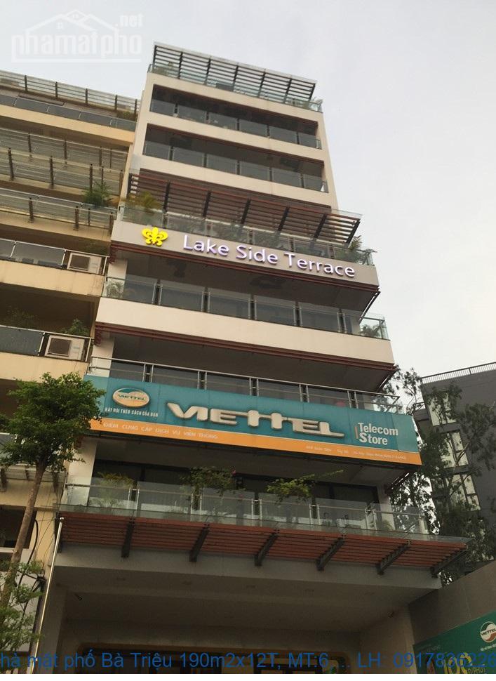 Bán nhà mặt phố Bà Triệu 190m2x12T, MT:6,5m giá 116tỷ