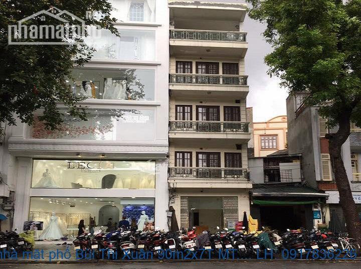 Bán nhà mặt phố Bùi Thị Xuân 90m2x7T MT:5m giá 43,5tỷ