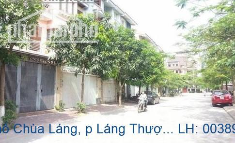 Bán nhà mặt phố Chùa Láng, p Láng Thượng, Đống Đa 70m2 giá 23 tỷ