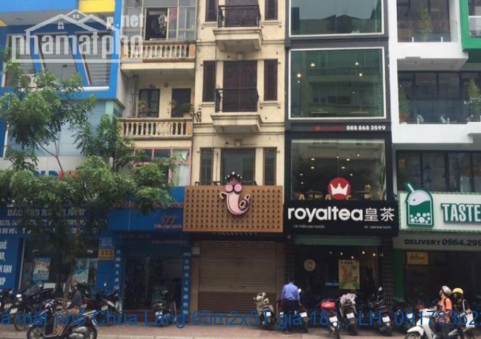 Bán nhà mặt phố Chùa Láng 65m2x5T giá 18 tỷ