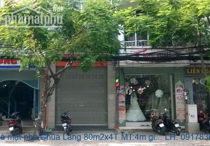 Bán nhà mặt phố Chùa Láng 80m2x4T MT:4m giá 23tỷ