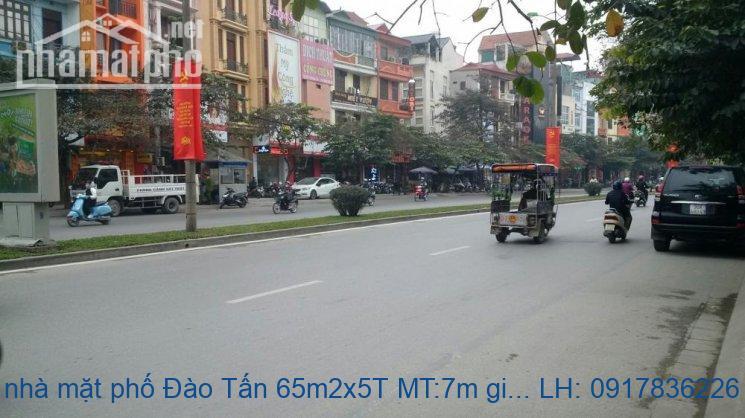 Bán nhà mặt phố Đào Tấn 65m2x5T MT:7m giá 30tỷ