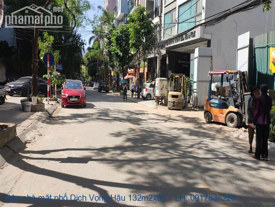 Bán nhà mặt phố Dịch Vọng Hậu 132m2x9T MT:7m TB giá 60tỷ