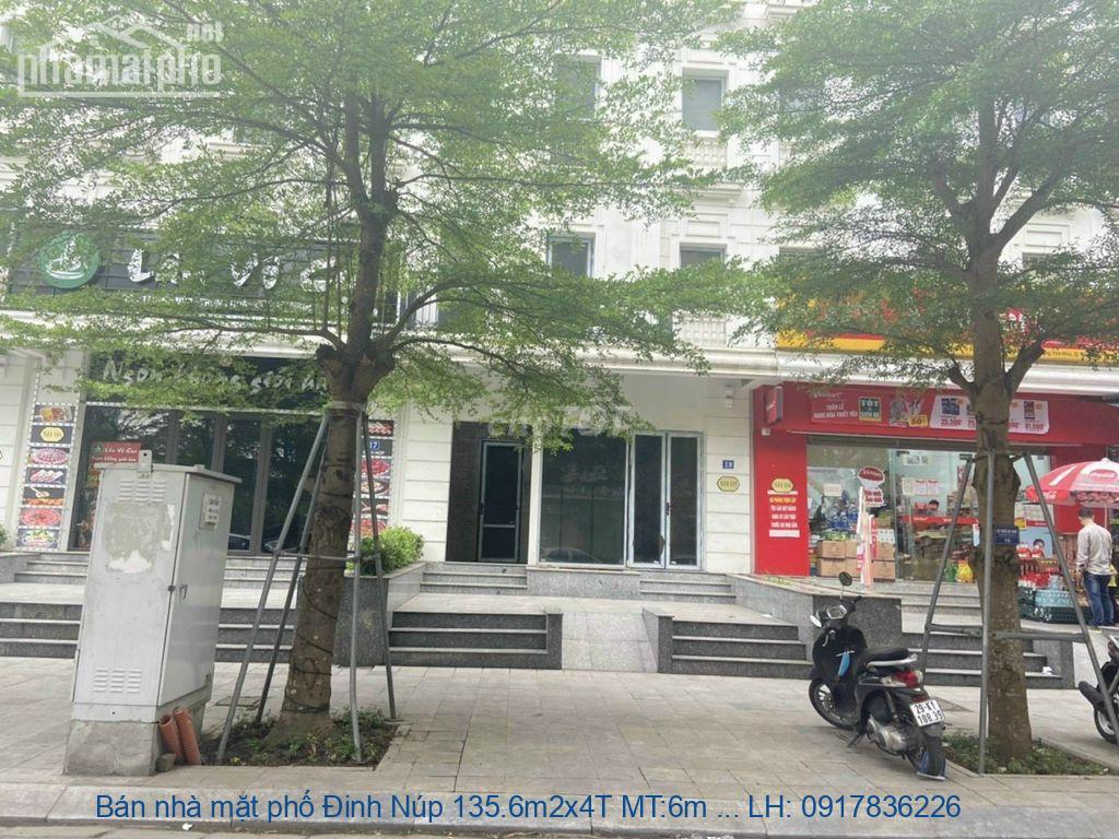 Bán nhà mặt phố Đinh Núp 135.6m2x4T MT:6m giá 35tỷ