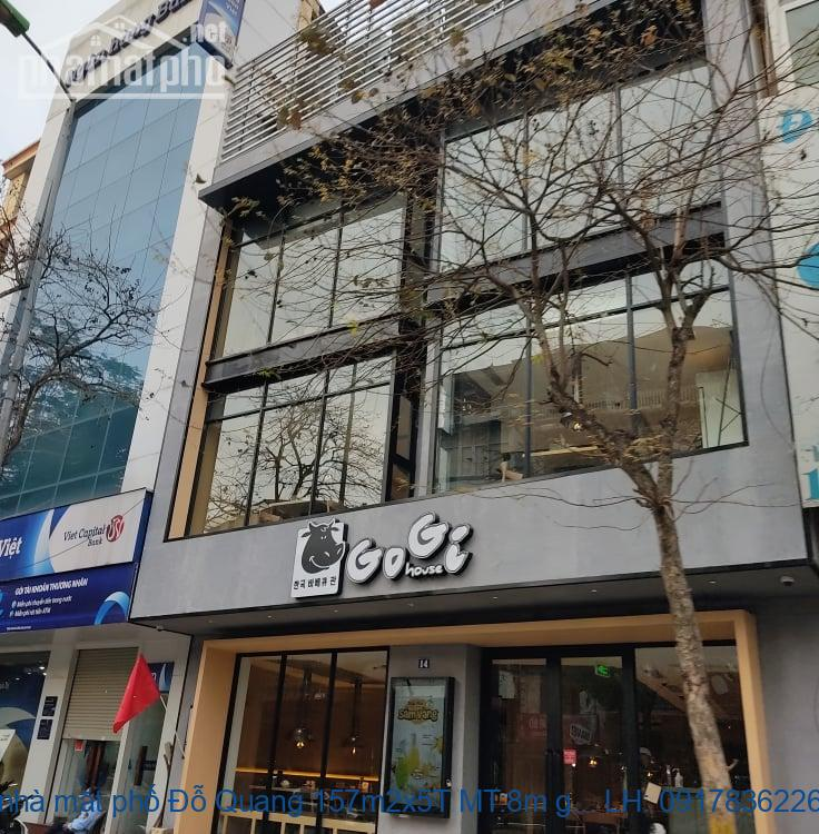 Bán nhà mặt phố Đỗ Quang 157m2x5T MT:8m giá 70tỷ