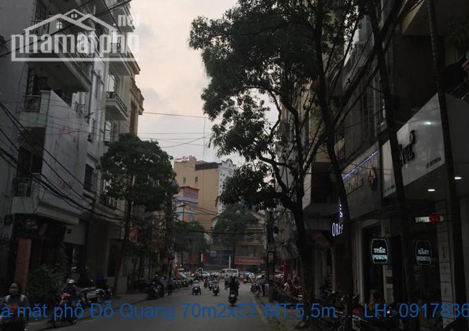 Bán nhà mặt phố Đỗ Quang 70m2x5T MT:5,5m lô góc giá 25tỷ