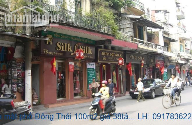 Bán nhà mặt phố Đông Thái 100m2 giá 38tỷ