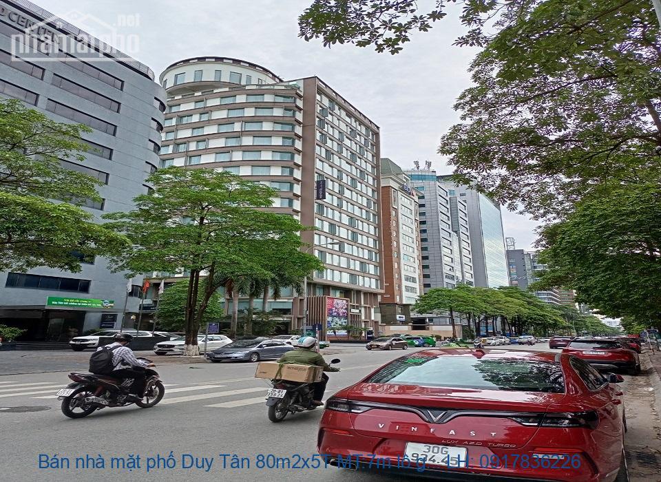 Bán nhà mặt phố Duy Tân 80m2x5T MT:7m lô góc giá 46tỷ