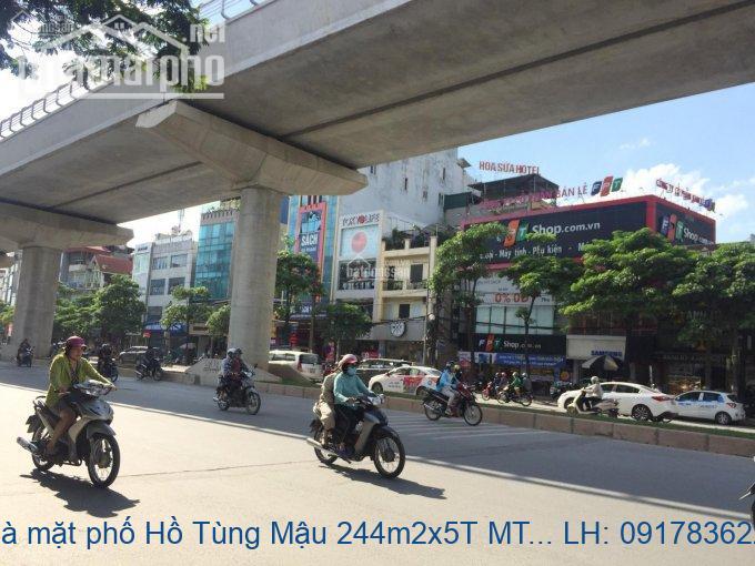 Bán nhà mặt phố Hồ Tùng Mậu 244m2x5T MT:20m giá 83tỷ
