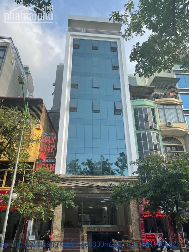 Bán nhà mặt phố Hoàng Quốc Việt 300m2x8T MT:9m giá 160tỷ