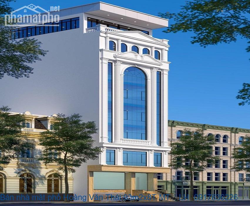 Bán nhà mặt phố Hoàng Văn Thái 93m2x8T MT:7m giá 40tỷ