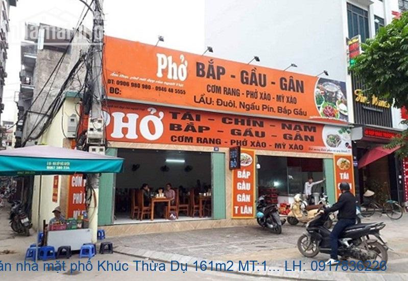 Bán nhà mặt phố Khúc Thừa Dụ 161m2 MT:17m lô góc giá 74tỷ