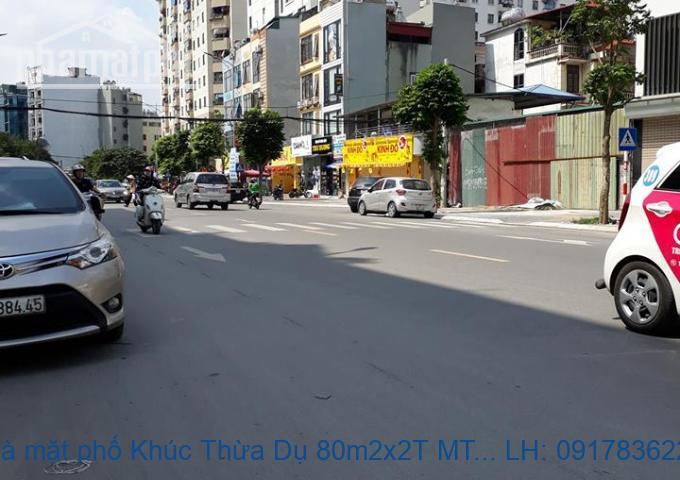 Bán nhà mặt phố Khúc Thừa Dụ 80m2x5T MT:6m giá 40tỷ
