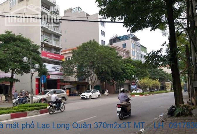 Bán nhà mặt phố Lạc Long Quân 370m2x3T MT:15m ĐN giá 70,3tỷ