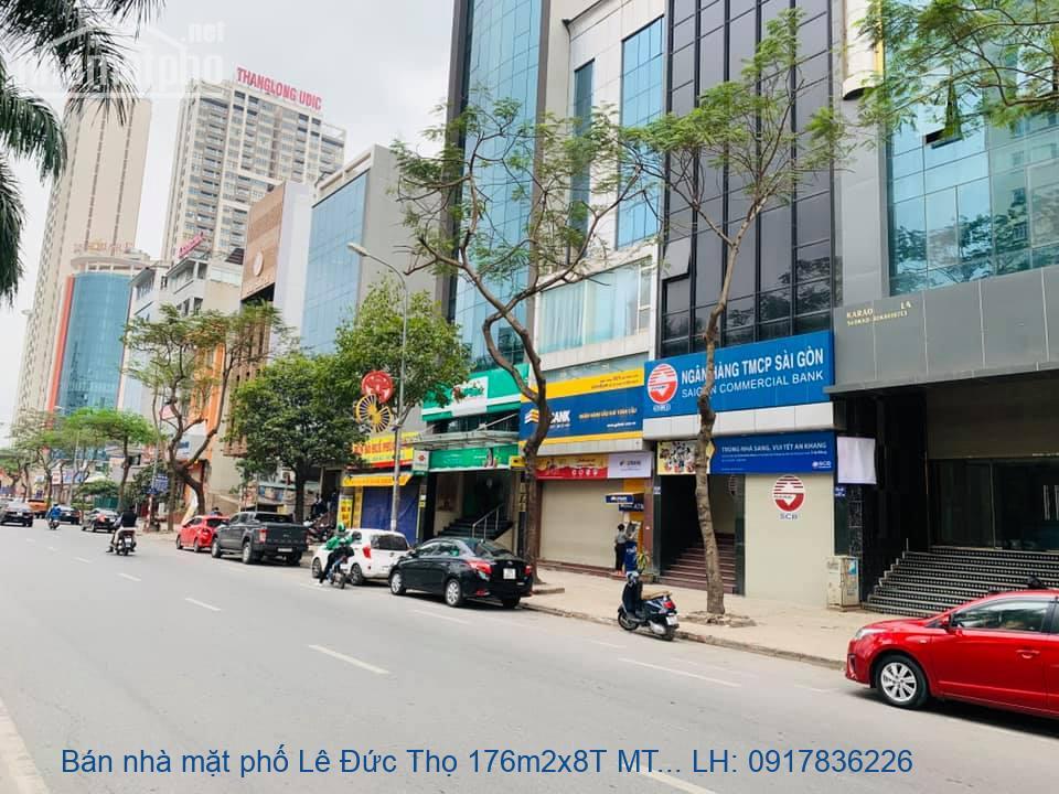 Bán nhà mặt phố Lê Đức Thọ 176m2x8T MT:8m giá 80tỷ