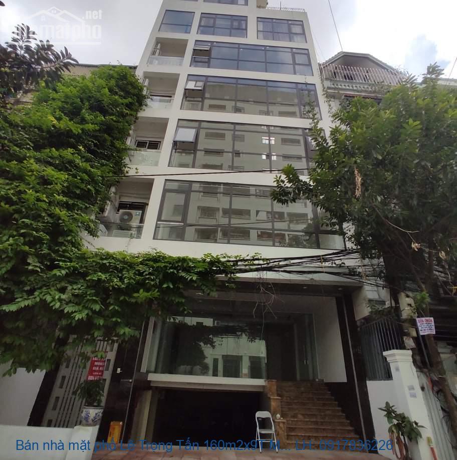 Bán nhà mặt phố Lê Trọng Tấn 160m2x9T MT:6m giá 76tỷ