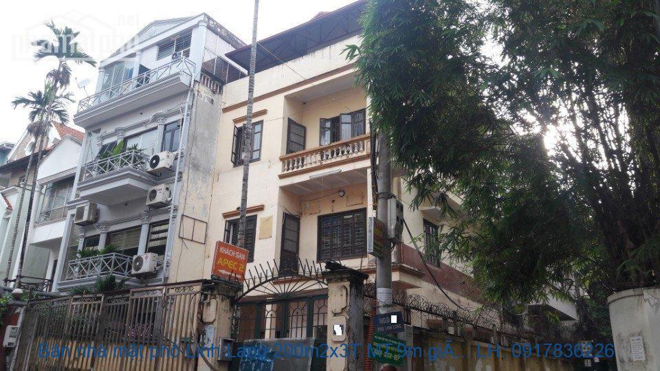 Bán nhà mặt phố Linh Lang 200m2x3T MT:9m giá 60tỷ