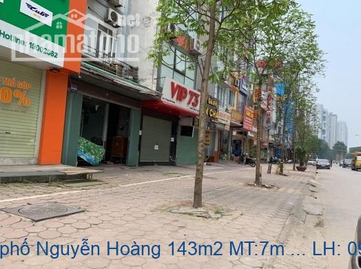 Bán nhà mặt phố Nguyễn Hoàng 143m2 MT:7m giá 36tỷ