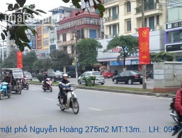 Bán nhà mặt phố Nguyễn Hoàng 275m2 MT:13m giá 71tỷ