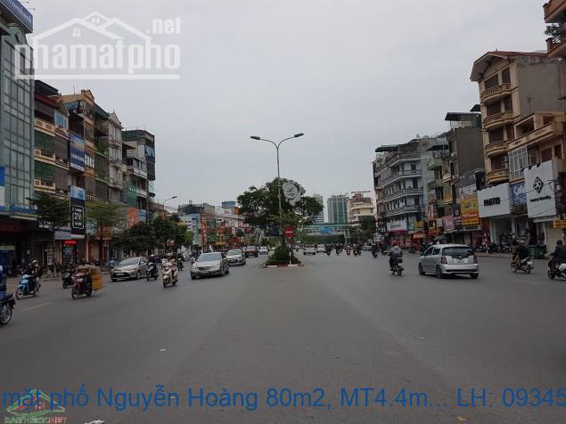 Bán nhà mặt phố Nguyễn Hoàng 80m2, MT4.4m, 7 tầng thang máy