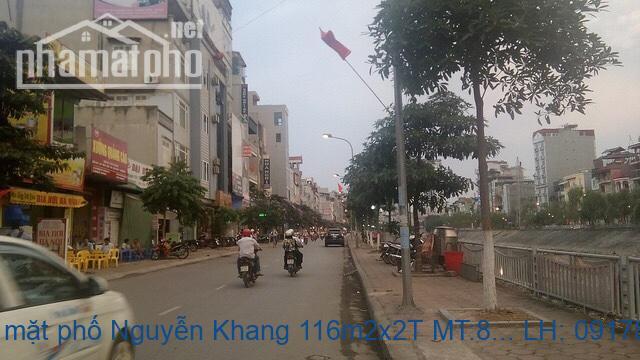 Bán nhà mặt phố Nguyễn Khang 116m2x2T MT:8,5m giá 40tỷ