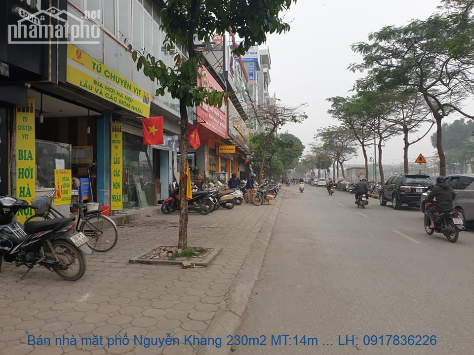 Bán nhà mặt phố Nguyễn Khang 230m2 MT:14m giá 62tỷ
