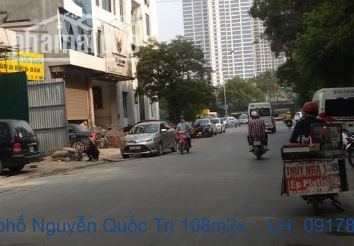 Bán nhà mặt phố Nguyễn Quốc Trị 104m2x7T MT:6,5m giá 42tỷ