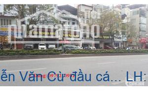 bán nhà mặt phố Nguyễn Văn Cừ đầu cầu Chương Dương mặt tiền rộng