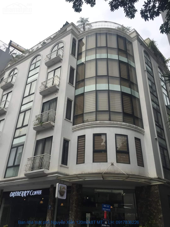 Bán nhà mặt phố Nguyễn Xiển 120m2x8T MT:7m góc giá 47tỷ