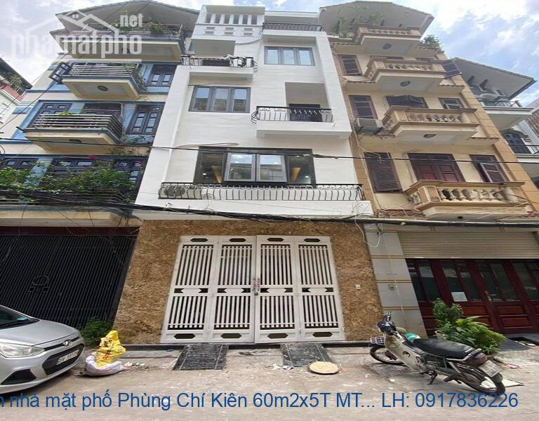 Bán nhà mặt phố Phùng Chí Kiên 60m2x5T MT:5m giá 16tỷ