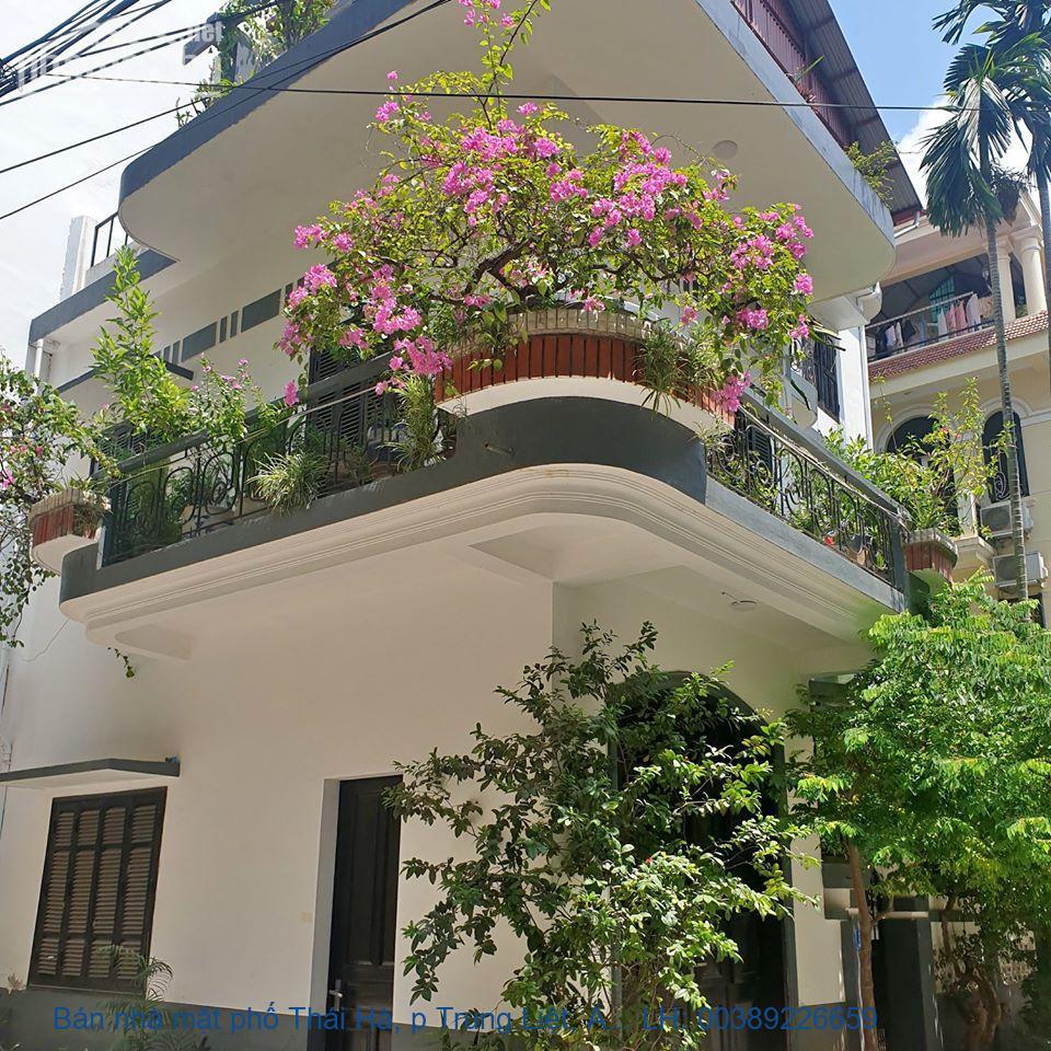 Bán nhà mặt phố Thái Hà, p Trung Liệt, Đống Đa 132 m2 giá 34,5tỷ