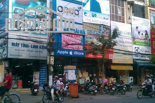 Bán nhà mặt phố Thái Hà 72m2x5T MT:4,2m giá 32tỷ