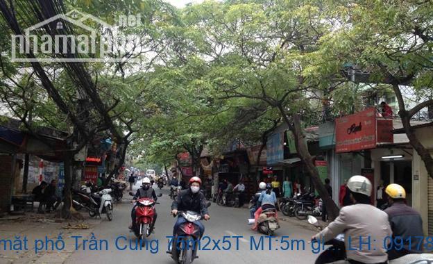 Bán nhà mặt phố Trần Cung 75m2x5T MT:5m giá 11 tỷ