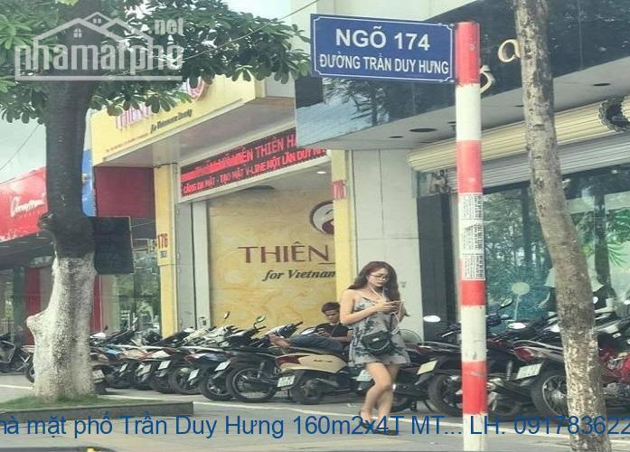 Bán nhà mặt phố Trần Duy Hưng 160m2x4T MT:12m giá 76tỷ