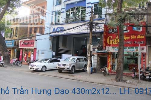 Bán nhà mặt phố Trần Hưng Đạo 430m2x12T MT:14m giá 320tỷ