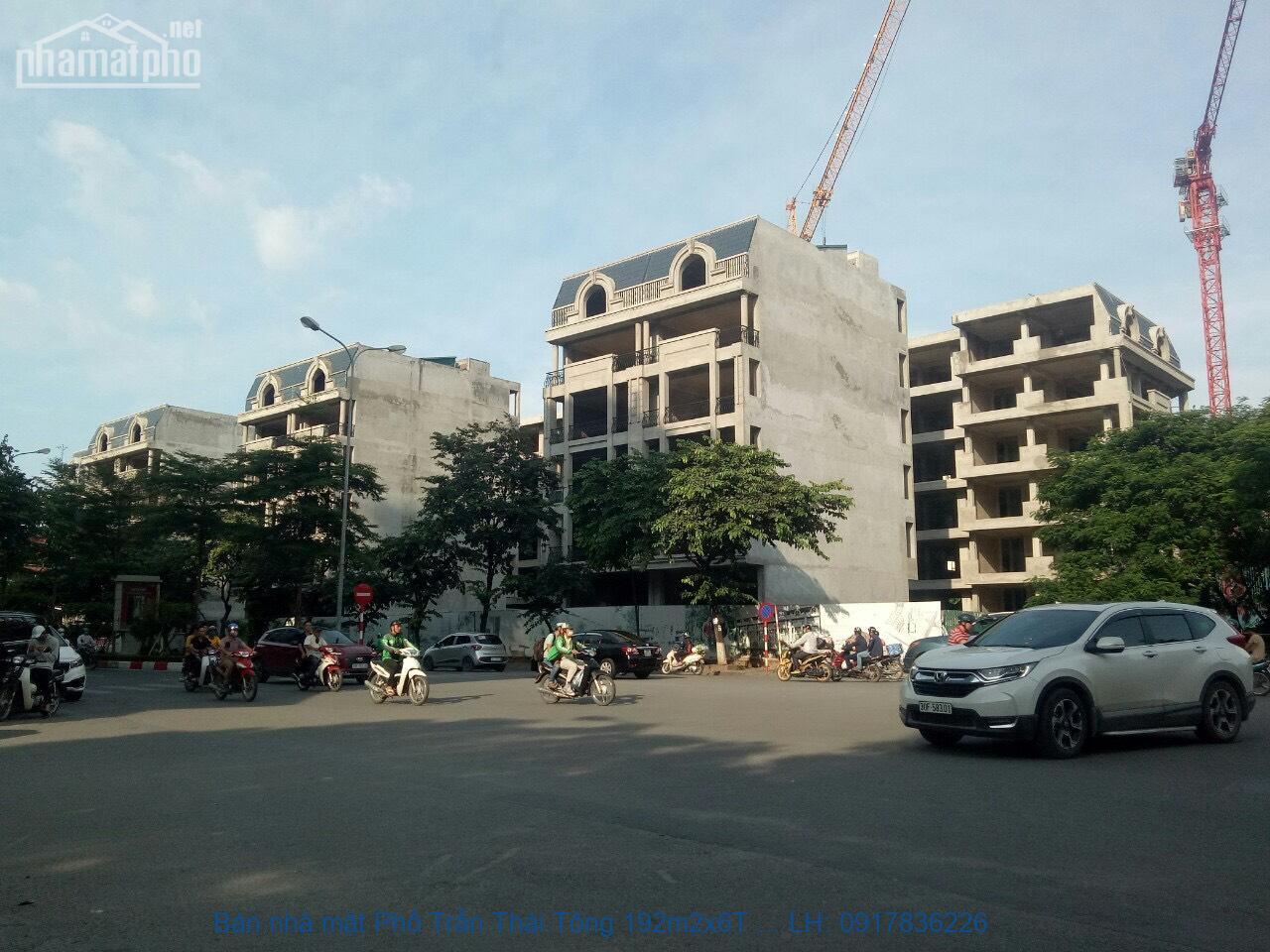 Bán nhà mặt Phố Trần Thái Tông 192m2x6T MT:8m giá 80tỷ