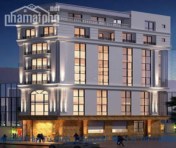 Bán nhà mặt phố Trần Tử Bình 120m2x8T MT:6,3m giá 35tỷ