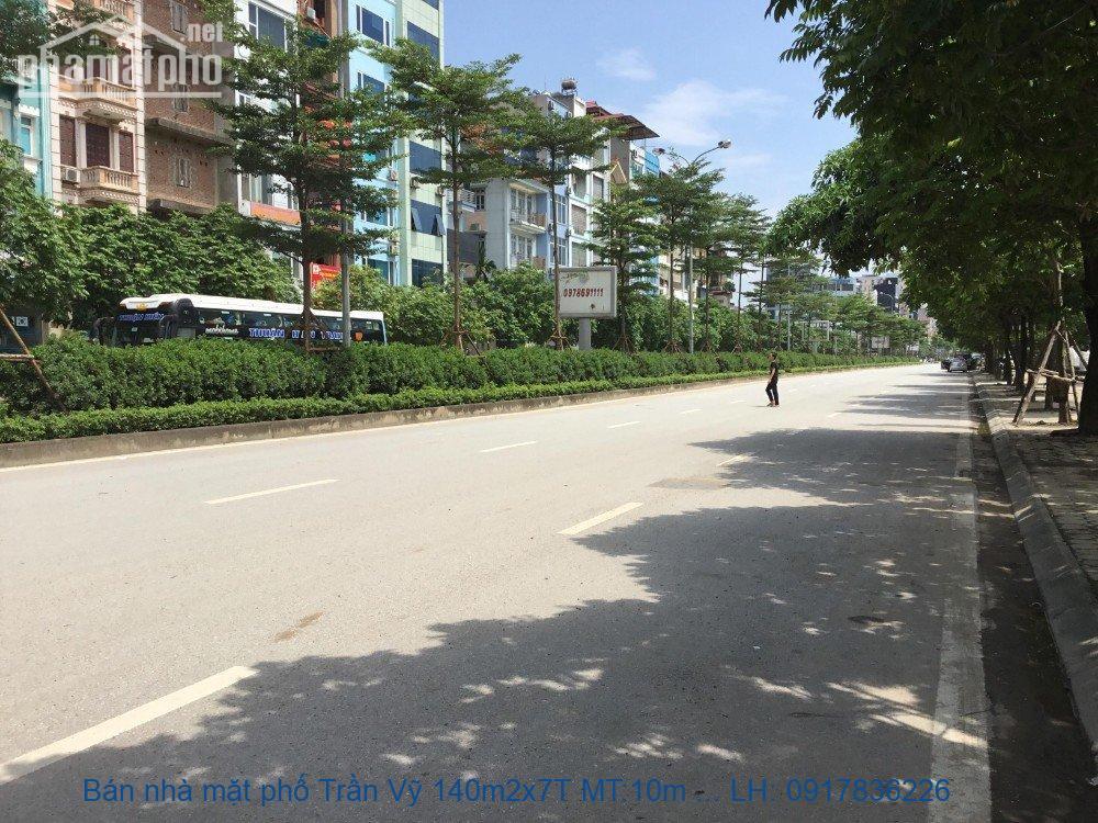 Bán nhà mặt phố Trần Vỹ 140m2x7T MT:10m giá 46tỷ