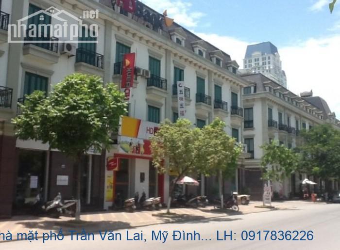Bán nhà mặt phố Trần Văn Lai, Mỹ Đình Sông Đà 205m2 MT:10m giá 50tỷ