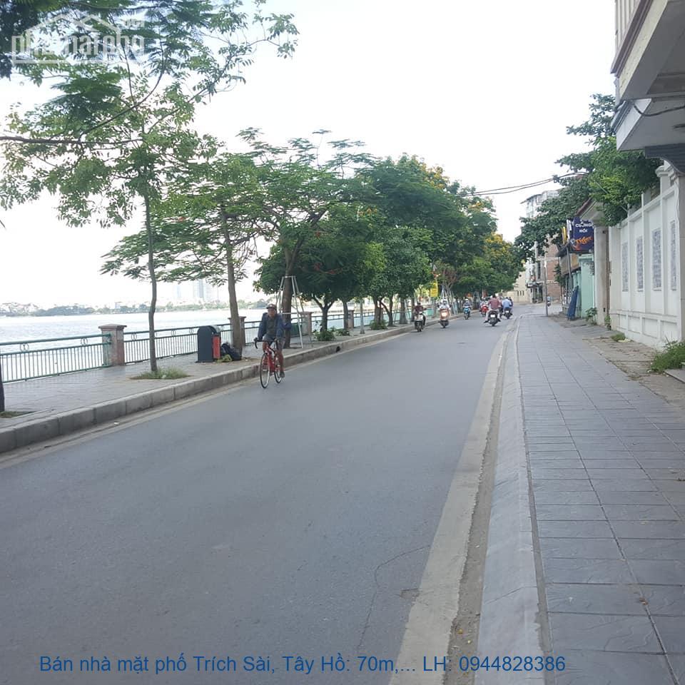Bán nhà mặt phố Trích Sài, Tây Hồ: 70m, 5 tầng, Mt: 4,2m. view đẹp, Gi