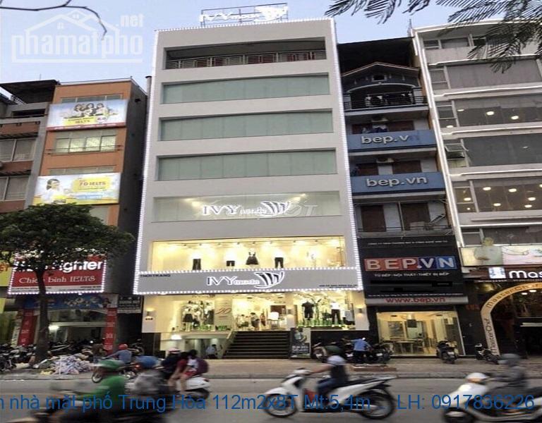Bán nhà mặt phố Trung Hòa 112m2x8T Mt:5,4m TN giá 62tỷ